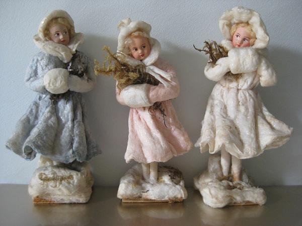 Ватные елочные игрушки своими руками