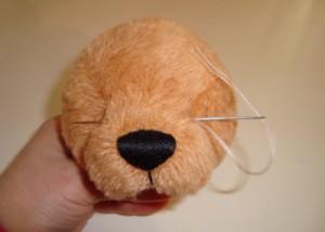 Как сделать глаза для медведя