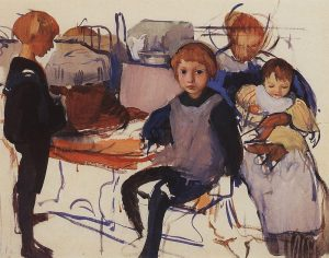 in-the-nursery-neskuchnoye-1913