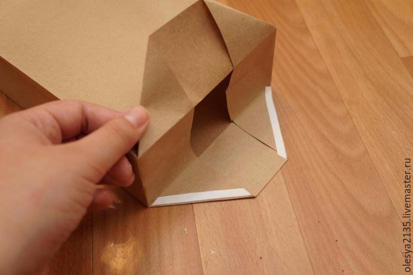 Как из бумаги сделать упаковочный пакет