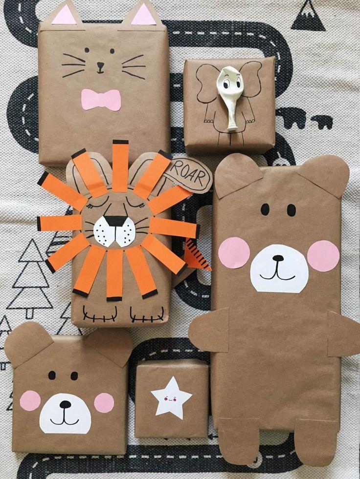 Интересная упаковка детского подарка на день рождения 12